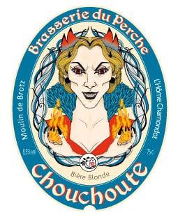 Etiquette de bière la Chouchoute de Mortagne