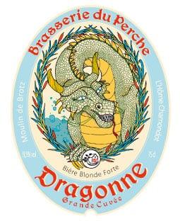 Etiquette de bière la Dragone de Nogent le rotrou
