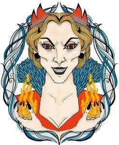 Illustration de la sorcière de Mortagne la chouchoute