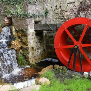 Photo de la roue du Moulin de Brotz