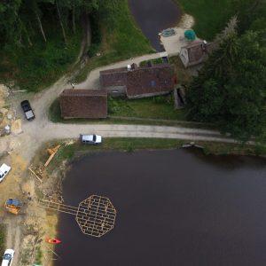 2017, construction du ponton